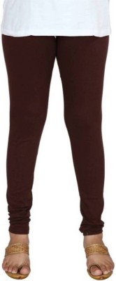 Rinky Fashion Churidar  Legging(Brown, Solid)