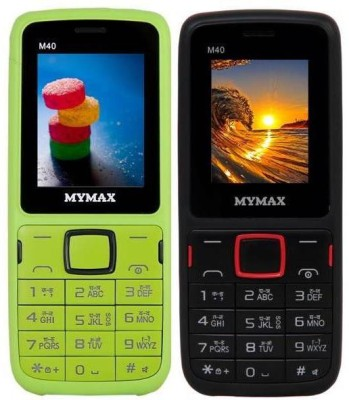 Mymax M40 Combo of Two Mobiles(Green Black, Black Red)