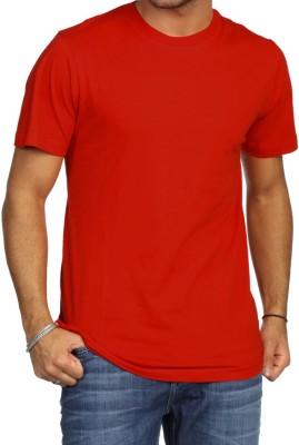 Khopche Solid Men's Round Neck Red T-Shirt