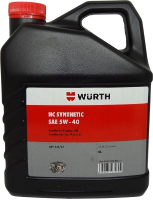 WUERTH SAE 5W-40 Advanced Fully Synthetic Motor Oil(4 L)