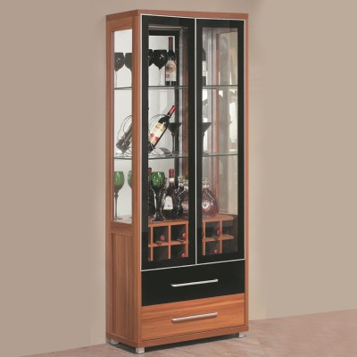 RoyalOak Iris Engineered Wood Bar Cabinet(Finish Color - Natural Brown)