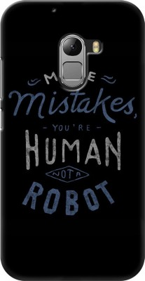 Coberta Case Back Cover for Lenovo Vibe K4 Note(Quote Human and robot Design, Plastic)