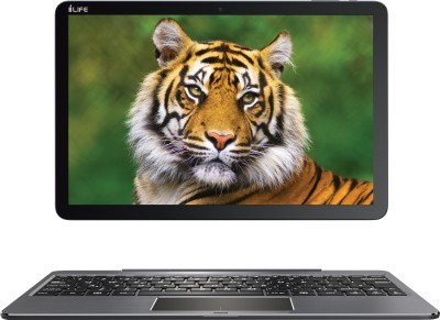 i-Life ZED Series Atom Quad Core - (2 GB/32 GB EMMC Storage/Windows 10 Home) ZED Book Grin / ZED Book W 2 in 1 Laptop(10.1 inch, Grey, 1.06 kg) 1
