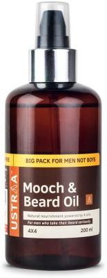 Ustraa Mooch and Beard Oil 4x4 (200 ml) Hair Oil(200 ml)