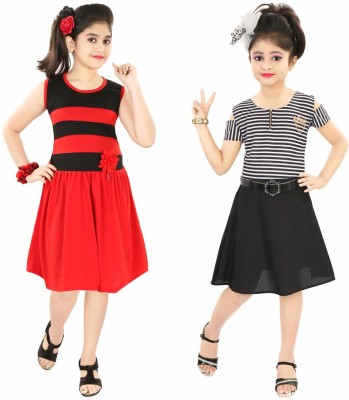 CELEBRITY CLUB Girls Maxi/Full Length Party Dress(Pink, Sleeveless)