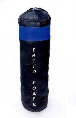 Facto Power 6.0 Feet Long, PU Material, Black and Blue Color, Unfilled with Hanging Straps Hanging Bag(6.0, 72 kg)