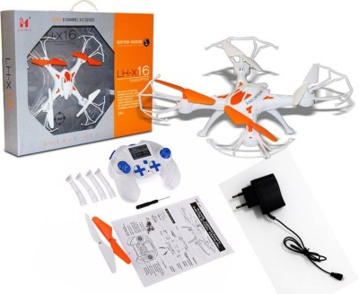 Embience LH-X16 2.4GHz 6-CH 6-Axis Gyroscope One Key Return Quadcopter Drone(Orange, White)