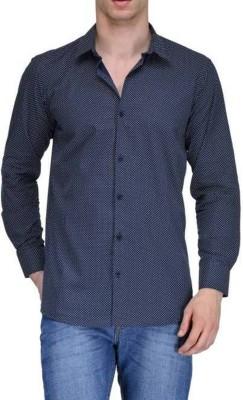 Sunshiny Men's Polka Print Casual Shirt
