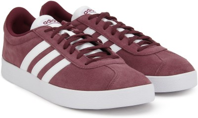 35% OFF on ADIDAS VL COURT 2.0 Sneakers For Men(Maroon) on Flipkart ... 4fffb4844