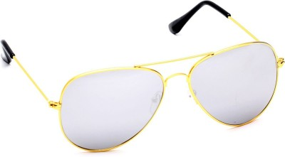 b10d36cf715 81% OFF on Azmani Aviator Sunglasses(Silver) on Flipkart ...