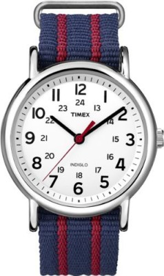 Timex White 6828 Timex Men's T2N747KW Weekender Slip Through Strap Watch Watch  - For Men  available at flipkart for Rs.6441