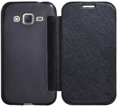 COVERNEW Flip Cover for Samsung Galaxy J5   2015 Black