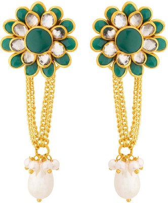 0271182ca3c5 Voylla Stunning Gold Plated Floral Drop Earrings Brass Dangle Earring