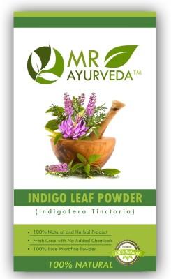 MR Ayurveda 100% Organic Indigo Henna Leaf Powder Hair Color(Indigo)  available at flipkart for Rs.284