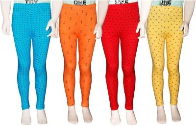 Ehiose Legging For Girls Yellow Pack of 4 Ehiose Kids' Leggings and Churidars