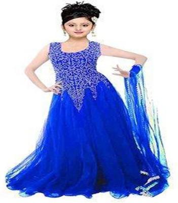 0973589a4 71% OFF on MF Retail Girl's Lehenga Choli Ethnic Wear Embroidered Lehenga  Choli(Blue, Pack of 1) on Flipkart | PaisaWapas.com