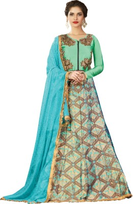 Mahotsav Embroidered Semi Stitched Lehenga Choli(Blue) at flipkart