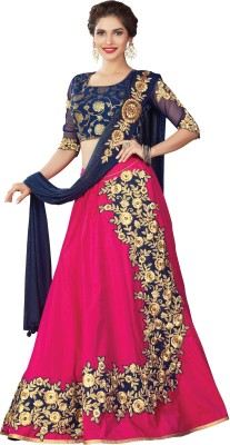Mahotsav Embroidered Semi Stitched Lehenga Choli(Pink) at flipkart