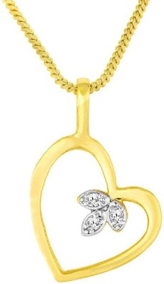 b8508e75e38cc 54% OFF on Voylla Heart Pattern CZ Studded Pendant Yellow Gold Cubic  Zirconia Brass Pendant on Flipkart