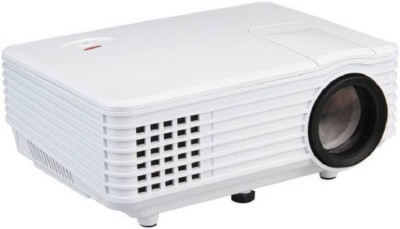 Mezire Portable RD805 Pico Mini LED Projector Digital Full HD 1080P Portable Video Data Proyector VGA HDMI TV Home Theater 2000 lm LED Corded Portable Projector(White, Black) Portable Projector(White)