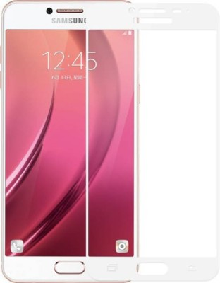 VaiMi Tempered Glass Guard for Samsung Galaxy C7 Pro (Full Glue , No Rainbow Shadow )