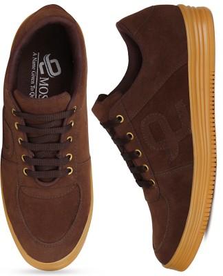 Gusto Denim Stylish Sneakers For Men(Brown, Blue)