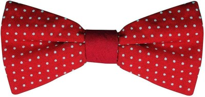 Hind Home Red Polka Dot Bow Tie Mens Solid Boys Tie