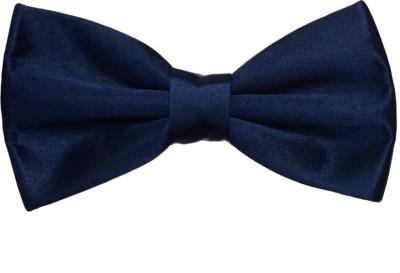 Hind Home Dark Blue Bow Tie Mens Solid Boys Tie