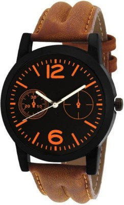 Miss Perfect latest chronograph pattern attractive (Brown) genuine leather belt watch for Men and Women Watch - For Boys & Girls Watch  - For Men  available at flipkart for Rs.169