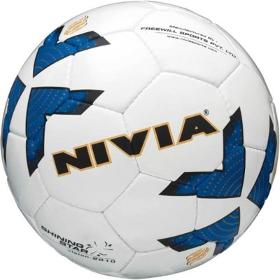 Nivia Shining Star Football   Size: 5 Pack of 1, Multicolor