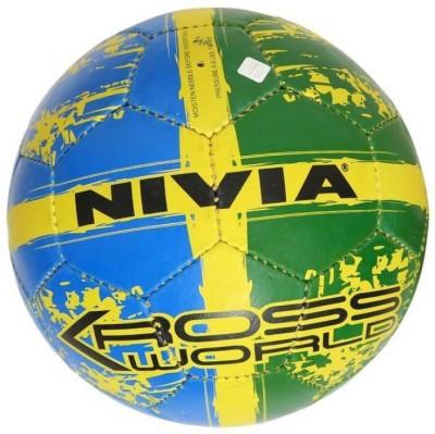 Nivia Kross world Football   Size: 5 Pack of 1, Multicolor