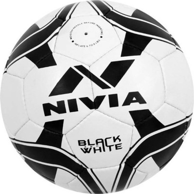 Nivia Black   White Football   Size: 5 Pack of 1, Multicolor