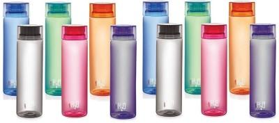 Dwivedi And Sons Cello H20 Multicolor Water Bottle for Fridge Pack of 12 1000 ml Bottle(Pack of 12, Multicolor)