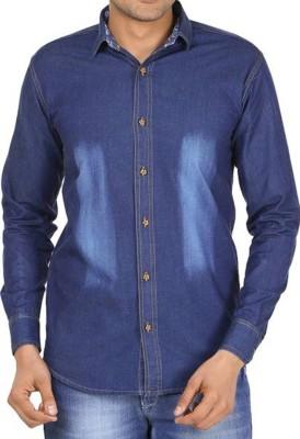 Sunshiny Men Solid Casual Slim Shirt