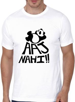 Atrangi Store Printed Men Round Neck White T Shirt
