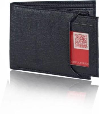 Beautylife Men Black Genuine Leather Wallet 7 Card Slots
