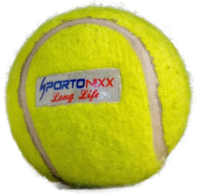 Sportonixx | LONG LIFE | LITE Cricket tennis Ball - Size: 3(Pack of 1, Yellow)  available at flipkart for Rs.99