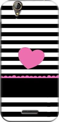Coberta Case Back Cover for Acer Liquid Z630(Black And White Stripes With Pink Heart Designer, Hard Case)