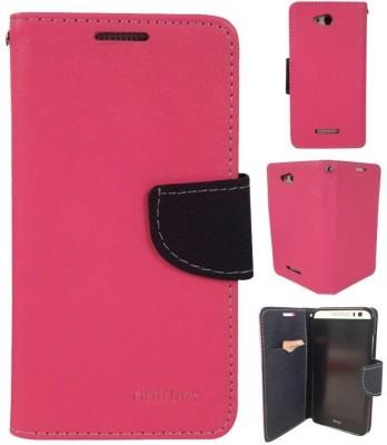 Close2deal Flip Cover for Sony Xperia M4 Aqua Pink