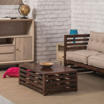The Jaipur Living Repeat Solid Wood Coffee Table(Finish Color - Honey Brown)
