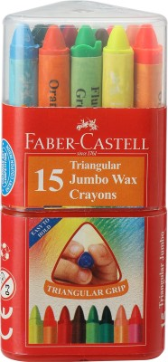 Faber-Castell Triangular Shaped Wax Crayons Crayon(Assorted)