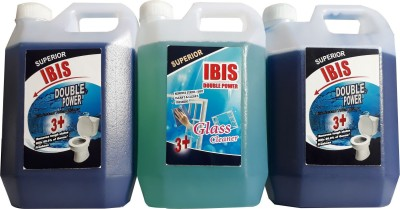 ibis CLEANING COMBO : 2 PACKS OF DISINFECTANT BOWL CLEANER & 1 PACK OF GLASS/GENERAL PURPOSE CLEANER (1 LTR EACH). TOTAL 3 LITRES(3000 ml)