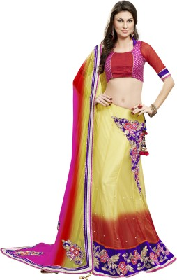 Mahotsav Embroidered Semi Stitched Lehenga Choli(Green) at flipkart