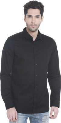 Jack & Jones Men Solid Casual Black Shirt at flipkart