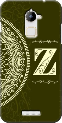 COBIERTAS Back Cover for Coolpad Note 3 Lite(Gold Color Name Initial Alphabet Z Design, Plastic)