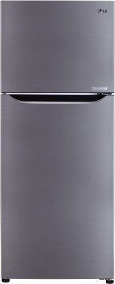 LG 260 L Frost Free Double Door 3 Star Refrigerator(Shiny Steel, GL-C292SPZU)  available at flipkart for Rs.24990
