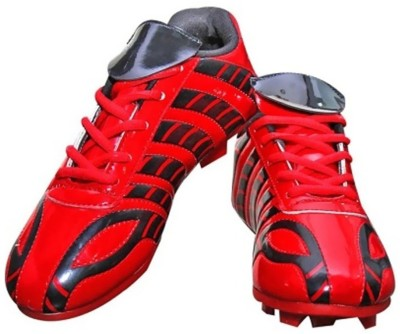 Port ZEBRONASA Football Shoes For Men(Red)