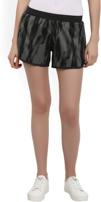 ADIDAS Printed Women Grey Baggy Shorts at flipkart