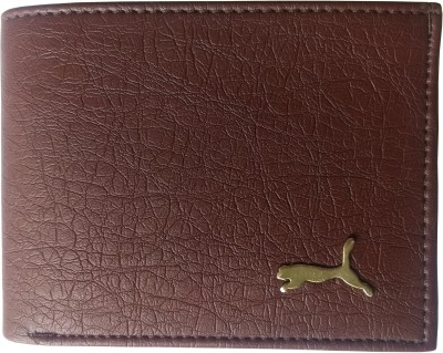 Puma Boys Casual Brown Artificial Leather Wallet 4 Card Slots