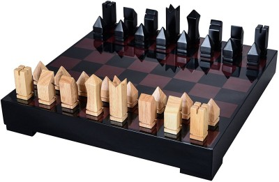 Cerasus Chess Board Big in Exclusive Rosewood Color with High Gloss Finish (BOG 062C) 5.99 cm Chess Board(Red)
